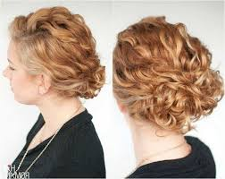 Frisuren Mittellange Haar Zum Selber Machen by Frisuren Naturlocken Selber Machen Laessiger Dutt Mittellange Haare
