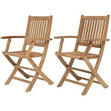 Armchair Position Amazon Com Vifah V145 Outdoor Wood Folding Arm Chair With