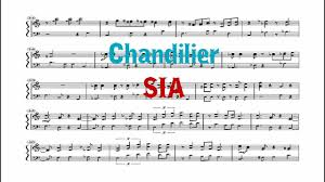 Chandelier Sia Piano Sheet Music Chandelier Sia Band Cover Youtube