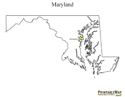 maryland map capital print state capital map of maryland