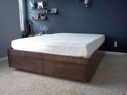 How To Make A Wooden Platform Bed by Platform Bed With Drawers 8 Steps With Pictures