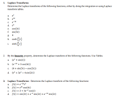 laplace transform table calculator solved determine the laplace transforms of the following