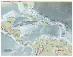 Map Of The Caribbean Maps Of North America And North American Countries Political