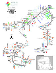 San Jose Bus Routes Map by M Owl Ocean View Bus Route Sf Muni Sf Bay Transit