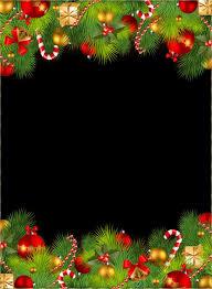christmas borders letters landscape santa claus border cadre de