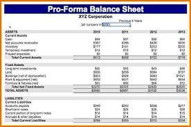 pro forma balance sheet template authorization letter pdf