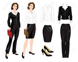 vector illustration of corporate dress code business