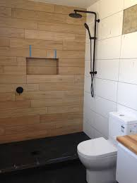 bathroom ideas nz tiled bathroom wooden tiles black shower buildme co nz