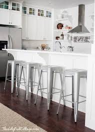 kitchen good looking metal kitchen bar stools with back metal