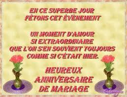souhaiter joyeux mariage joyeux anniversaire de mariage à marcelle et j claude de la part
