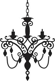 Chandelier Stencils Vector Baroque Chandelier Silhouette Full Scalable Vector Graphic