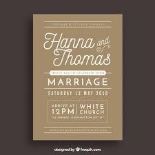 Tri Fold Wedding Invitations Template Wedding Invitation Template Vector Free Download