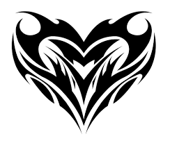 tribal heart tattoos clipart library clip art library