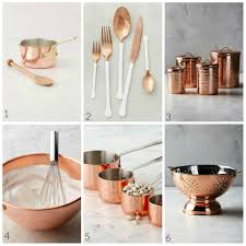 copper kitchen items