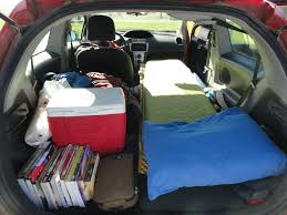 How To Make A Comfortable Bed How To Successfully Camp In Your Car Therm A Rest Blog