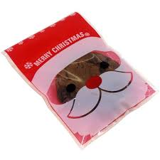 santa claus christmas cookie candy snack party favor gift bags