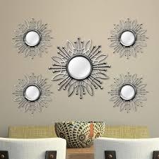 mirror sets wall decor roselawnlutheran stratton home decor 5 piece burst wall mirror set