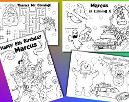 birthday party favor personalized coloring vsstudio