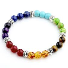 bracelet gemstone images Jovivi 7 chakras bracelet reiki healing balancing jpg