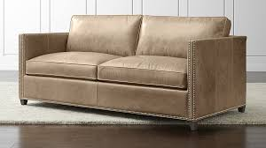 leather full sleeper sofa dryden leather full sleeper sofa with nailheads reviews crate