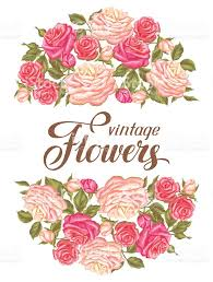 imagenes de rosas vintage tarjeta de invitación con rosas vintage retro decorativa flores