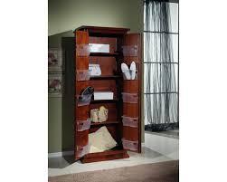 armadi per scarpe armadio legno scarpiera 2 ante arte povera colore noce dispensa x