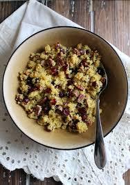 cranberry pecan quinoa salad with honey orange dressing