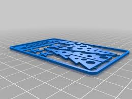 christmas tree gift card by watchyasix thingiverse