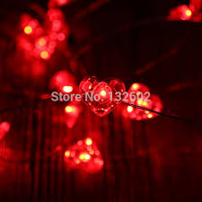 heart shaped christmas lights battery 3m 40led heart shaped led string lights waterproof