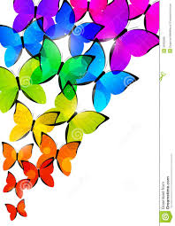 rainbow butterflies background stock vector illustration of