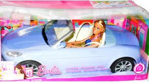 mattel 2007 barbie purple convertible car