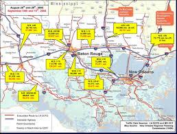 Interstate 10 Map Temporospatial Analysis Of Hurricane Katrina Regional Evacuation