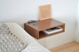 minimalist bedside table brown wooden bedroom floating night stand with shelf for minimalist