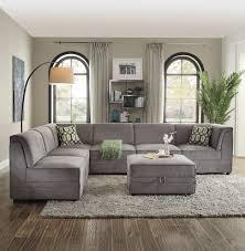 velvet sectional sofa 6 pcs bois gray velvet sectional sofa