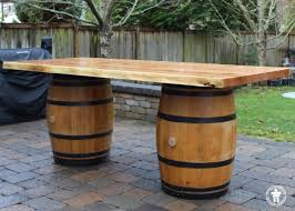 Wine Barrel Patio Table Dining Coffee Conference Tables Outside The Box Woodworking