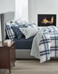 emmett flannel duvet cover set gluckstein home