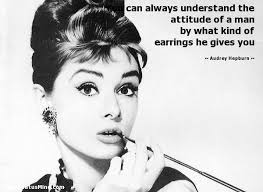 hepburn earrings you can always understand the attitude of a by statusmind