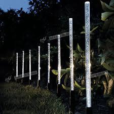 8x solar stick lights post garden patio outdoor led