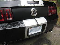 Matte Black 2005 Mustang 05 09 Mustang Bx Trunk Center Black Out Panel Decal Gt V6