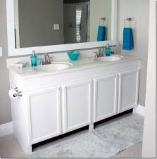 Remodelaholic How To Raise Up A Short Vanity - 4 foot bathroom vanity