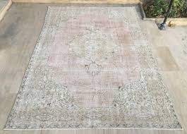 Shipping Rugs Free Shipping Oushak Rug 6 4x9 3ft Vintage Mute Pink Rug