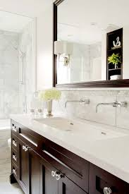 trough bathroom sink contemporary with above mirror lighting
