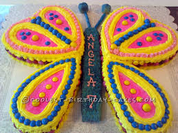 easy but fancy looking butterfly birthday cake butterfly