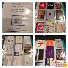 gift card organizer tips for organizing business cards for home reference