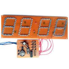 electronic components led lights diy kit pcb board led digital electronic clock assembly kit 144 led