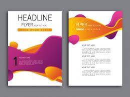 free flyer design abstract violet and orange background flyer design vectors stock