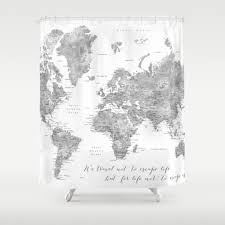Map Of The World Shower Curtain by Worldmap Shower Curtains Society6