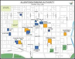 Penn State Parking Map Parking Lots U0026 Parking Decks In Allentown Pa