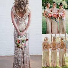 rose gold sequin bridesmaid dresses naf dresses