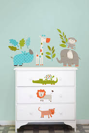 let s go on safari wall art sticker kit